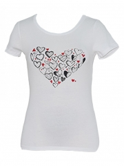 White Printed Womens Top black printed s