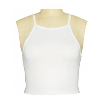 White Women Halter Crop Top white s