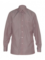 Alladin-Coral / Navy Stripped Mens Shirt coral/navy stripped 36