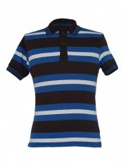 Alladin-Blue Striped Mens Polo Shirt blue stripped s