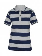 Alladin-Navy / Grey Striped Mens Polo Shirt navy/grey s
