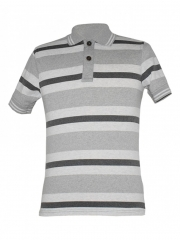 Alladin-Grey Striped Mens Polo Shirt grey stripped s
