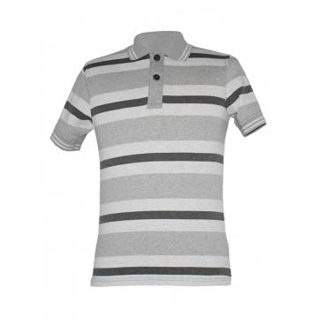 Alladin-Grey Striped Mens Polo Shirt grey stripped s