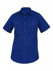 Alladin-Royal Blue Mens Short Sleeved Shirt royal blue s