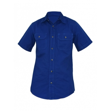 Alladin-Royal Blue Mens Short Sleeved Shirt royal blue s