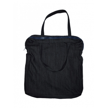 Alladin- Black Denim Bag black denim 18 by 16 Inches
