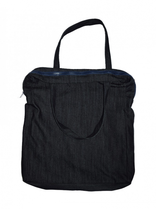 Alladin- Black Denim Bag black denim 18 by 16 Inches