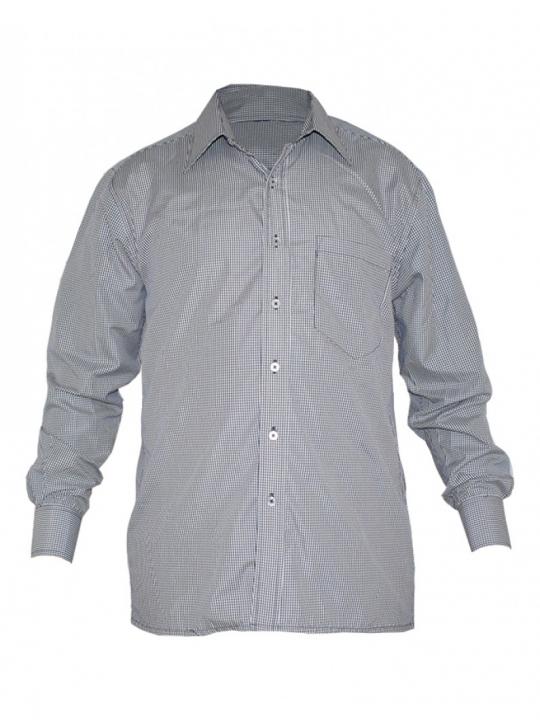 Alladin-Navy Checked Mens Shirt navy checked 38