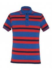 Alladin-Red Striped Mens Polo Shirt red striped s cotton