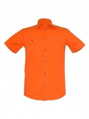 Alldin-Orange Mens Short Sleeved Shirt orange s