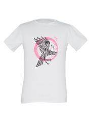 Alladin-White Mens Printed T-shirt white l cotton
