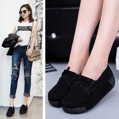 Women's Casual Loafers Women's Flat Work Moccasin Shoes Women's Fashion Shoes blue 35