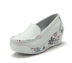 Women's Casual Loafers Women's Flat Work Moccasin Shoes Women's Fashion Shoes white 35