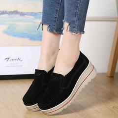 Women's Platform shoes Women's Casual Loafers Work Moccasin Shoes Women's Fashion Shoes black 35