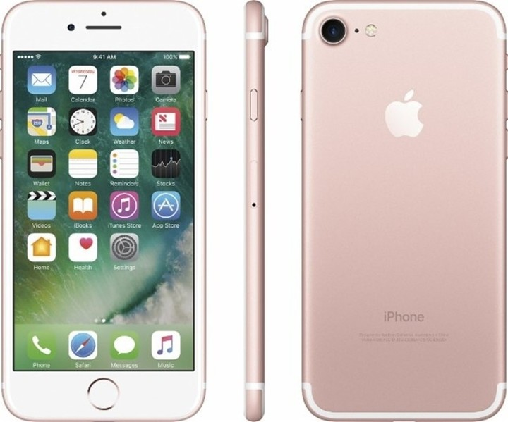 Refurbished Apple iPhone 7 32GB Rose Gold LTE Cellular Straight Talk/TracFone smart phone pink