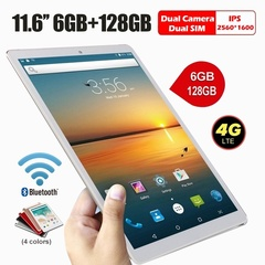 new arrival ipad 11.6 inch tablet pc with  128G hardware memory 2560*1600 IPS red