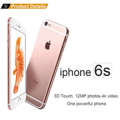 Apple iPhone 6s (UNLOCKED AT&T MetroPCS T-Mobile) - Space smart phone(Refurbished) rose gold  16g without fingerprint