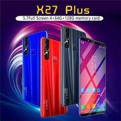 CiCi 2019 6.1 Inch Ultra-thin Smart phone 4GB+64GB+128g memory card Dual SIM Cards HD Camera red