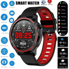 2019 New Men Smart Watch IP68 Waterproof Heart Rate Blood Pressure Blood Oxygen Monitor black cool black