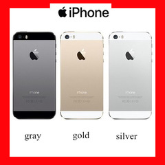 Certified Refurbished:apple iphone 5s 16G/32G/64G/128G mobile phone smart phones with fingerprint silvery 16g without fingerprint