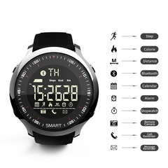 Smart Watch IP68 Waterproof 5ATM Pedometer Message Reminder Long Standby Tracker Wristwatch Bracelet silver one size