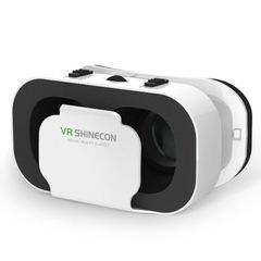 Bluetooth VR Glasses 3D Glasses Box Stereo Cardboard Headset Helmet For IOS Android Smartphone White one size