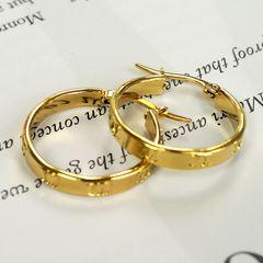 Women Fashion Jewelry Accessories Big Circle Earrings For Hot Women golden 2.1