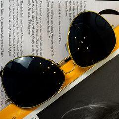 Men Fashion Sunglasses Polarizing Sunglasses Block UV Men Fashion Accessories golden one size