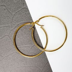 Newstyle Fashion Simple Punk Style Circle Earrings Women Fashion Jewelry Accessories golden 4.2CM