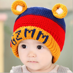 Children's Winter Crochet Hat For Boys and Girls yellow one size