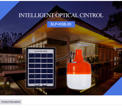 Solar LED Light Bulb 20W orange 180x130x105mm 20