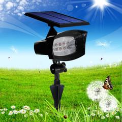 8led Solar powered led wall lights BLACK 210x190x130mm 2