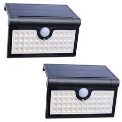 42 LED Solar Sensor Folding Lamp black 175x28x115mm 2