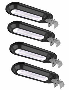 Solar Gutter Lights Outdoor, Super Bright 18 LED Deck Light Waterproof Wall Lamps white 235x85x50mm 1.5