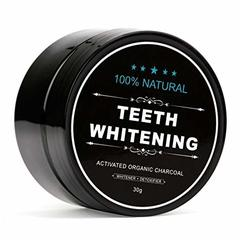 TEETH WHITENING Activated Organic Charcoal Black