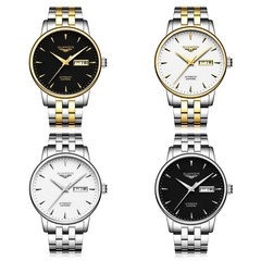 GUANQIN GJ16058 Men Auto Mechanical Watch Date Day Display Stainless Steel Band Wristwatch
