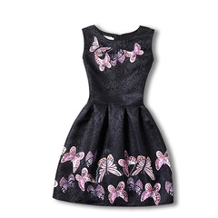 Girls Summer Party Casual Dresses (8-12 Years) Variety of 5 Designs Floral Prints Black 8-9 Years