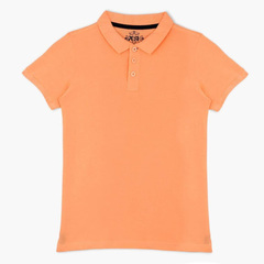Boys 100% Cotton Polo Shirts (9-14 Years) Posh Brand Short Sleeves 8 Colors Variety Orange 11-12 Years Cotton