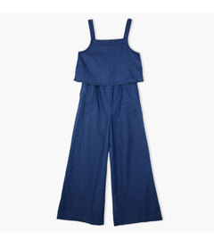 Girls 100% Cotton Denim Jumpsuit 8-14 Years blue 9-10 years