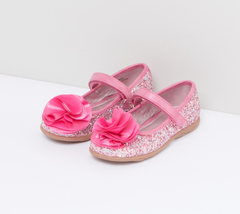 Flower Glitter Party Dress Shoes Euro Size 25 & 27 Pink Euro 25