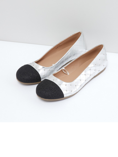 Studded Slip-On Ballerinas Euro Size 30 & 32 silver Euro 30