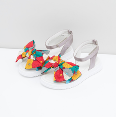 Printed Bow Sandals Euro Size 29 & 30 Silver Euro 29