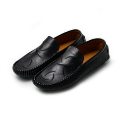 Mens Shoes Casual Driving Fashion Peas Shoes Loafers Adult Moccasins Male Working Shoes Black 43