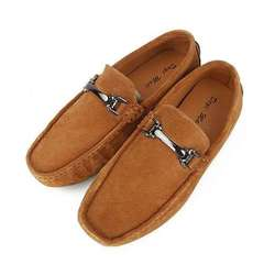 Mens Fashion Moccasins Slip on Loafers Soft Comfy Male Breathable Flats Driving Shoes Brown 43