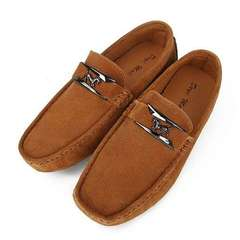 Men Driving Slip on Shoes Outdoor Breathable Man Loafers male Shoes Soft Peas Flats Shoes Brown 44
