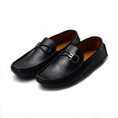 Mens Casual Fashion Peas Shoes Suede Leather Men Loafers Moccasins Men's Flats Male Driving Shoes Black 43