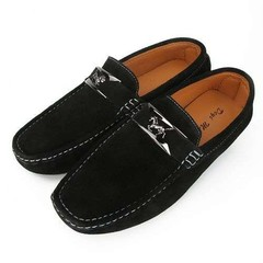 Men Driving Slip on Shoes Outdoor Breathable Man Loafers male Shoes Soft Peas Flats Shoes Black 42