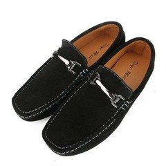 Mens Fashion Moccasins Slip on Loafers Soft Comfy Male Breathable Flats Driving Shoes Black 42