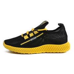 Men's Fashion Sneakers Breathable Running Shoes Yellow 43