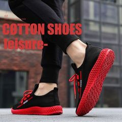 Men's Fashion Sneakers Breathable Running Shoes Red 42